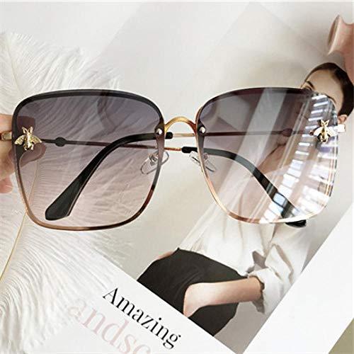 Sonnenbrille Sunglasses Übergroße Quadratische Sonnenbrille Sonnenbrille, Designer-Frauenfarben Uv400 Beige Antreibt