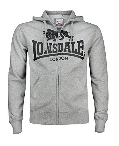 Lonsdale Krafty - Veste Sportswear - Homme, Gris (grau meliert), Medium (Taille fabricant: Medium)