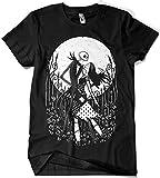 Camisetas La Colmena 292-Halloween Love (Fuacka) (3XL, Negro)