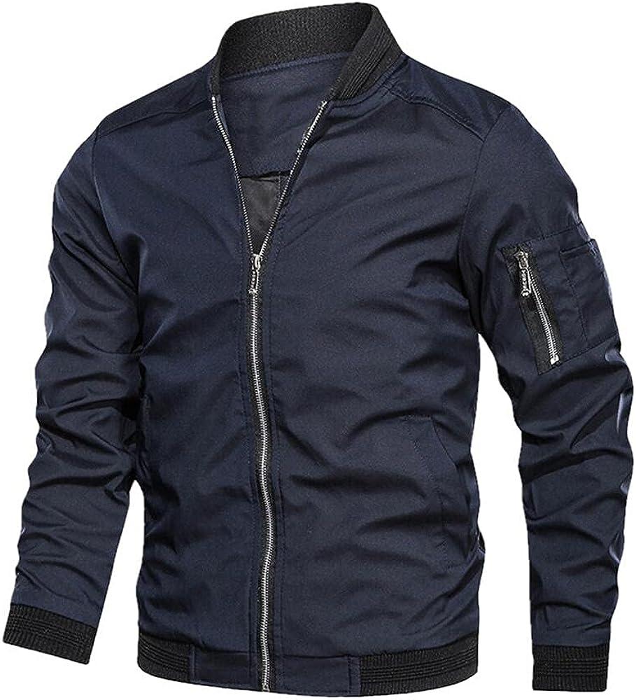 Autumn Men's Bomber Zipper Jacket Male Casual Spring Streetwear Hip Hop Slim