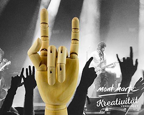 MONT MARTE Gliederhand – Modellhand aus Holz – linke Hand – 25,4 cm – Flexible Holzhand, ideal als Model zum Zeichnen - 6