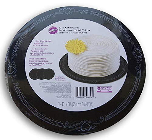 Wilton 10 Inch Cake Boards for 8 or 9 Inch Cakes - 3 Count