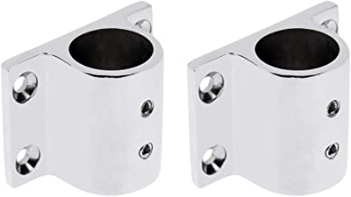 2 Pieces Marine Boat Hand Rail Fitting Stainless Steel 90 Degree Stanchion Rectangle Base Mount Hand Rail Fitting