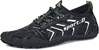 Mens Womens Water Shoes Aqua Shoes Swim Shoes Beach Sports Quick Dry Barefoot for Boating Fishing Diving Surfing with Drainage Driving Yoga Upstream