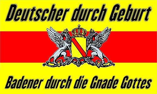 FRIP –Versand Baden Gnade Gottes Fahne Flagge Grösse 1,50 x 0,90m Badische Flagge