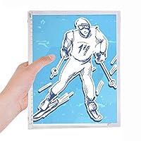 ウィンタースポーツスノーボードコンテストのイラスト 硬質プラスチックルーズリーフノートノート
