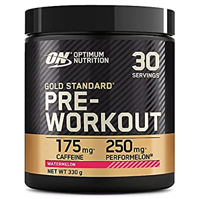 Optimum Nutrition Gold Standard Pre Workout Powder, Energy Drink with Creatine Monohydrate, Beta Alanine, Caffeine and Vitamin B Complex, Watermelon, 30 Servings, 330 g, Packaging May Vary