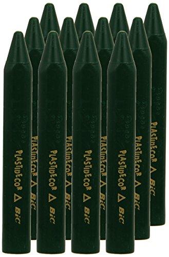 Plastidecor 816 – Ceras, caja de 12 unidades, color verde oscuro