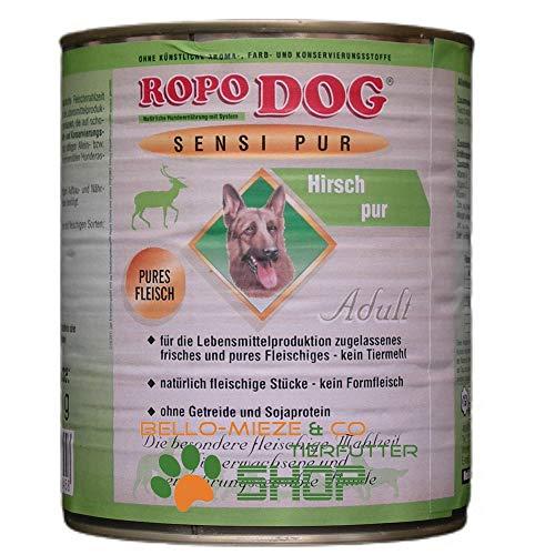 RopoDog 30 Dosen à 800 gr Adult Sensi Pur Hirsch - pures Fleisch