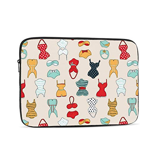 KXT Cute Swimsuits Laptop Sleeve Case,Briefcase Cover Protective Bag,Ultrabook Netbook Carrying Handbag for Women Men