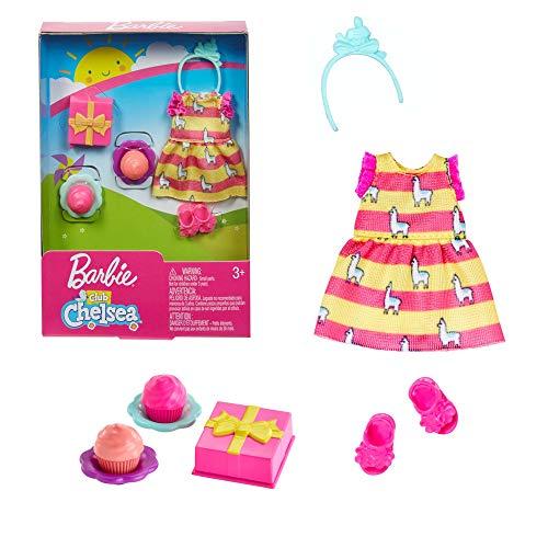 Barbie. GHV61 - Chelsea Mode, Kleid, Kleidung Set Geburtstag, Schuhe, Geschenk, Cupcakesfür Chelsea