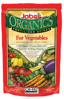 Jobes 06028 OFFicial Organics Vegetable Fertilizer Animer and price revision 2-7-4 50 Pack Spikes