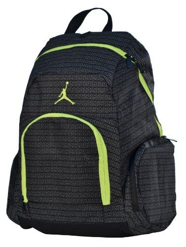 Jordan Nike Air Jumpman 23 Backpack Laptop Book Bag-Black/Yellow