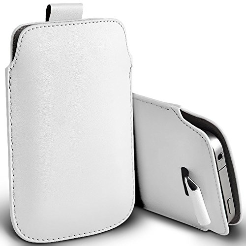 KP TECHNOLOGY Galaxy A21s Pull Tab PU Leather Pull Tab Pouch For Samsung Galaxy A21s (WHITE)