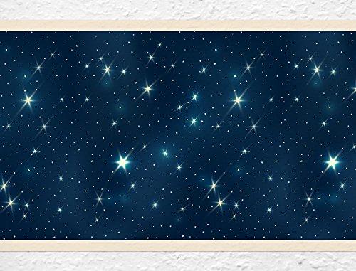 I-love-Wandtattoo Kinderzimmer Bordüre Borte Sterne Wanddeko Kinder selbstklebend
