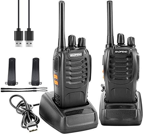 Baofeng Talkie Walkie Rechargeable 1500mAh 16 Canaux 2-Way Radio Longue Portée Talkie Walkie Professionnel pour...