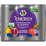V8 +Energy, Healthy Energy Drink, Natural Energy from Tea, Pomegranate Blueberry, 8 Fl Oz Can (pack of 6)