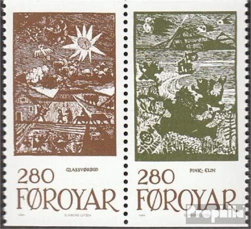Prophila Collection Dänemark - Färöer W11 (kompl.Ausg.) 1984 Märchenillustrationen (Briefmarken für Sammler) Kultur