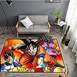 KegamiMisa Son Goku Saiyan Alfombra Habitación para Niños Alfombra De Fútbol Sala De Campo Dormitorio Sala De Estar Alfombras para Niños Alfombras Grandes Alfombra para El Hogar 80X150Cm