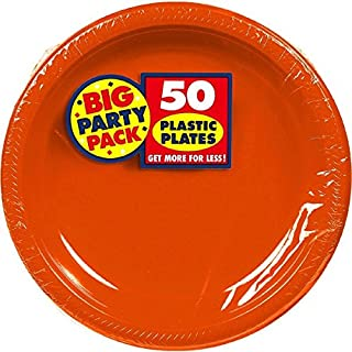 """Big Party Pack Orange Peel Plastic Plates 