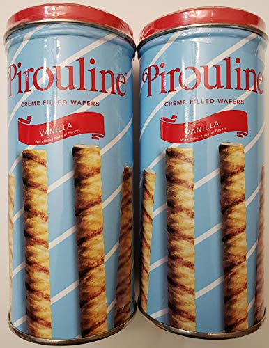 Pirouline creme filled wafers, vanilla flavored, 3.25oz, 2 pack bundle