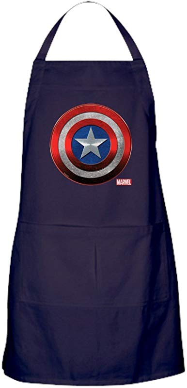 CafePress Captain America Grunge Kitchen Apron With Pockets Grilling Apron Baking Apron