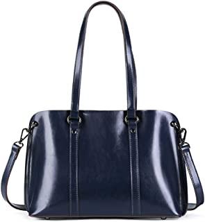 FengheYQ Women's Messenger Bag Simple Multifunction Large Capacity Shoulder Bag Shoulder Bag Leather ToteSize:36 * 11 * 24cm (Color : Blue)