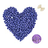 PURPLESKY Hair Removal Wax Beads 2.5LB, Hard Wax Beans with 20 Wax Sticks for Facial, Leg, Back and Chest Hair, Brazilian Microwavable Wax Hair Removal for Men Women Sensitive Skin, Lavender Scent