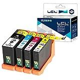 LCL Cartucho de Tinta Compatible 150XL 14N1614E 14N1615E 14N1616E 14N1618E Reemplazo para Lexmark S315 S415 S515 Pro715 Pro915 (K,C,M,Y)