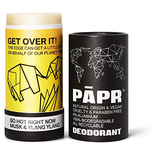 So Hot Right Now All-Natural Deodorant In Biodegradable Zero Waste Packaging, Vegan Paper Deodorant for Men and Women