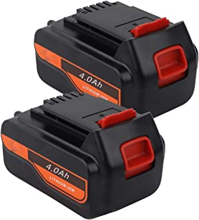 VINIDA 20 Volts 4000Ah High Capacity Replacement Battery for Black and Decker 20v Lithium Battery Max LBXR20 LB20 LBX20 LBXR2020 LBX4020 LB2X4020-OPE LBXR20-OPE Power Tools (2 Pack)