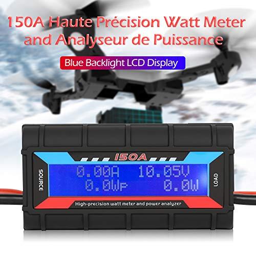 DishyKooker RC 150A Hochpräziser Wattmeter Power Analyzer mit LCD-Hintergrundbeleuchtung für Rc Drone