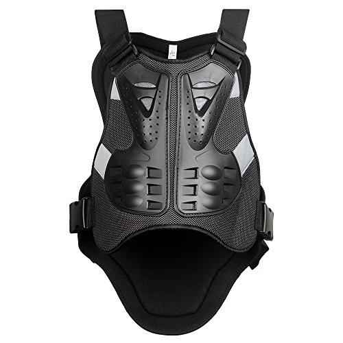 WOSAWE Protection de Poitrine Colonne Vertébrale Armure Dorsale Protecteur pour Motocross Moto Vélo Body Guard de Course pour le Ski/Snowboard Patinage