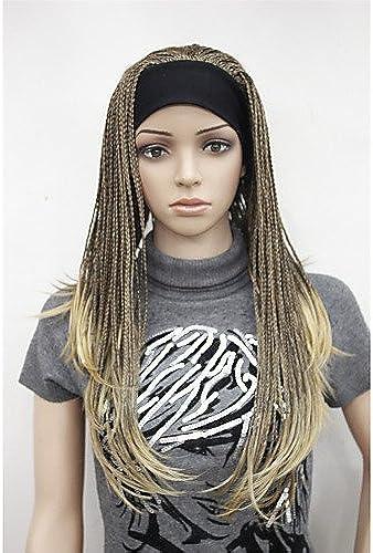 Fashion wigstyle New Fashion 3 4 rücke mit Haarband Mittelbraun mit Ingwer Highlight Lange Z e Perücke H te Perücke Kunsthaar Cosplay Perücken auf Verkauf billige
