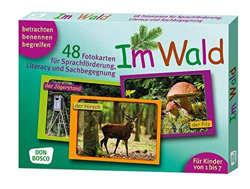 Im Wald. 48 Fotokarten für Sprachförderung, Literacy und Sachbegegnung - 48 Fotokarten mit Begleitheft. Betrachten. Benennen. Begreifen. Für Kinder ... (Fotokarten für Sprachförderung und Literacy)