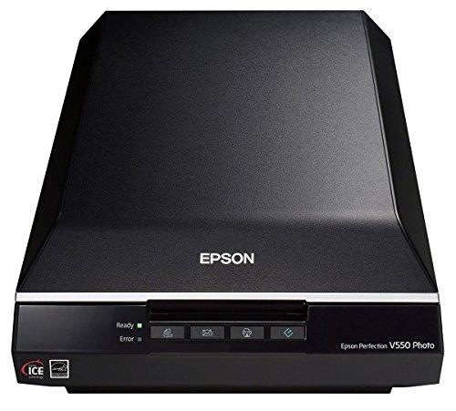 Epson Perfection V550 Photo - Escáner fotográfico (USB 2.0, 6400 x 9600 DPI, 48 bit), color negro