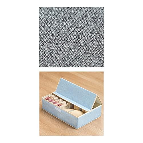 LXZFJW Cajas De Tela Cajas De Almacenamiento De Tela con Tapas para Ropa Juguetes(Size:49×31×13cm,Color:blue3)