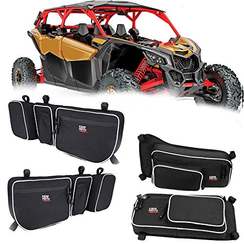X3 Front and Rear Upper Door Bags for 2017 2018 2019 2020 2021 Can Am Maverick X3 Max XRS XDS Turbo RR with Removable Knee Pad