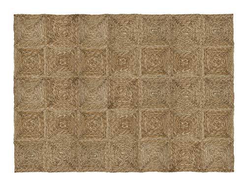 HERSIG - Alfombra Fibra Natural | Alfombra Cuadrada de Seagrass - 150 x 210 cm