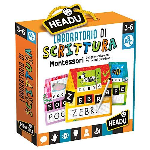 Headu- Laboratorio di Scrittura Montessori Gioco Educativo, Multicolore, IT23578