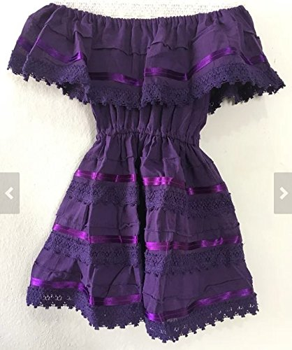 Campesino purple dress for 5-6 years old girl