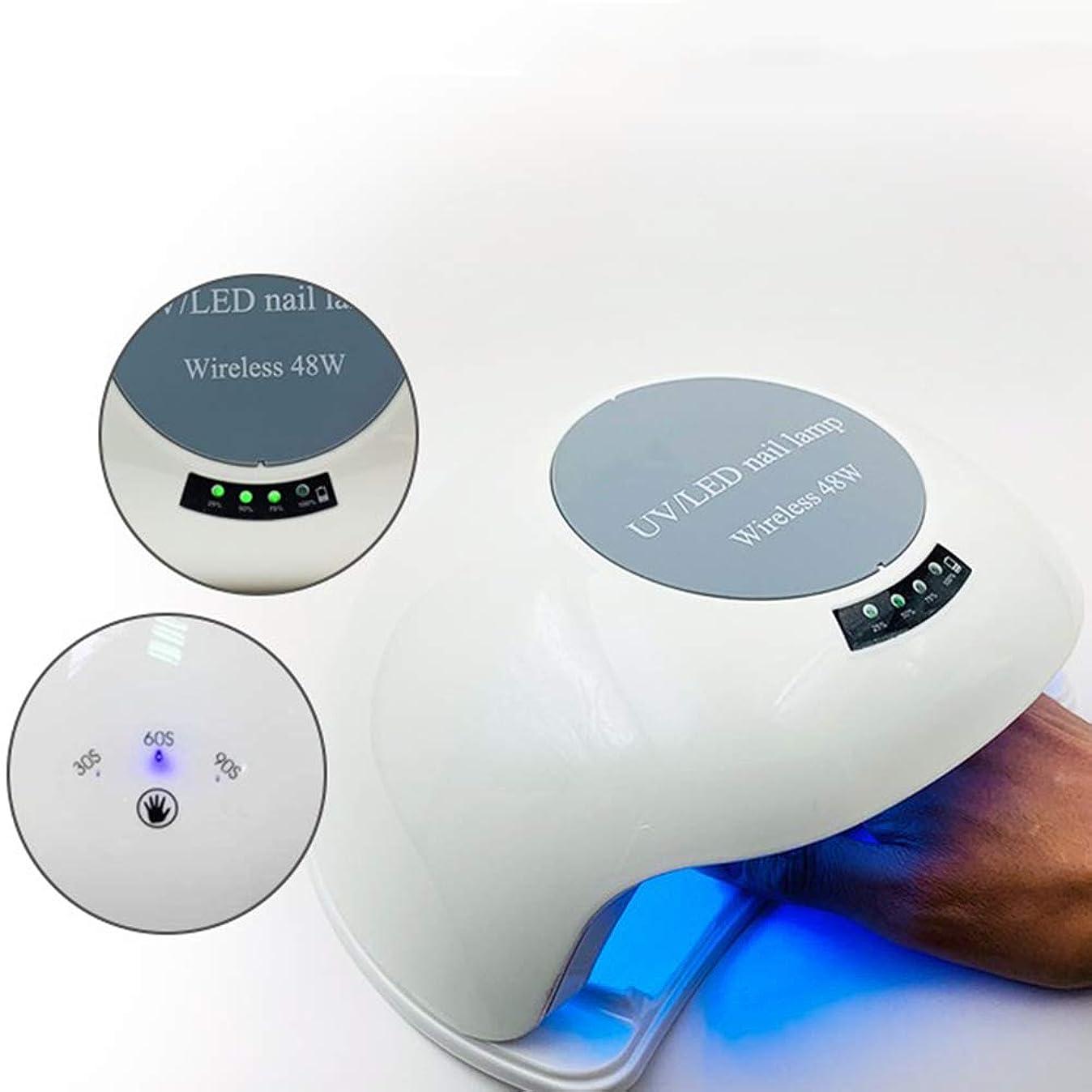 経度忌み嫌うインストラクター48ワットネイル光線療法ランプ、インテリジェント誘導led省エネネイルポリッシュドライヤー、ネイルポリッシュラバーランプ33ランプビーズ