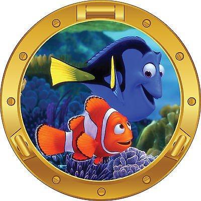 Adesivo Bambino trompe l' oeil Nemo pesci Rif: Oblò 1716, 60 x 60 cm