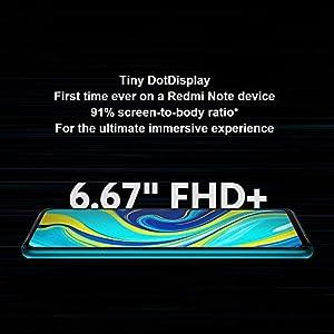 "Xiaomi Redmi Note 9S 4GB 64GB Smartphone Qualcomm Snapdragon 720G 48MP AI Quad Camera 6.67""Dot Drop Pantalla Completa Pantalla Teléfono móvil (Azul)"