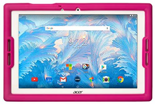 BobjGear Bobj Rugged Tablet Case for (25.4) Acer Iconia B3-A40 and B3-A30 Kid Friendly (Rockin' Raspberry)