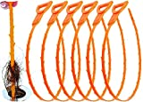 6 Pack Drain Clog Remover Plumbing Tool for Bathroom Shower & Bathtub Drain Cleaner Sink Un-clogger Hair Catcher Stick Pipe Tub(Orange)