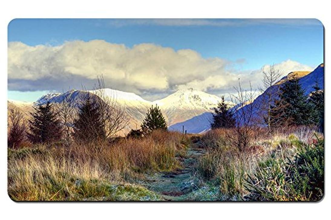 ごみ憤る調査山頂、雪、木、トウヒ、草、霜 パターンカスタムの マウスパッド 旅行 風景 景色 デスクマット 大 (60cmx35cm)