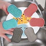 Esponjas para Platos,Esponja de Limpieza para Platos,Esponja de Cocina,Esponja de Cocina para Lavar los Platos,Microfibra Dish Scrubber Cepillo,Ideal para Antiadherente Sartenes Ollas,Pack de 6