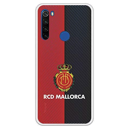 LA CASA DE LAS CARCASAS Funda para Xiaomi Redmi Note 8T Oficial del RCD Mallorca Mallorca RCD Mallorca Diagonales Transparente para Proteger tu móvil.