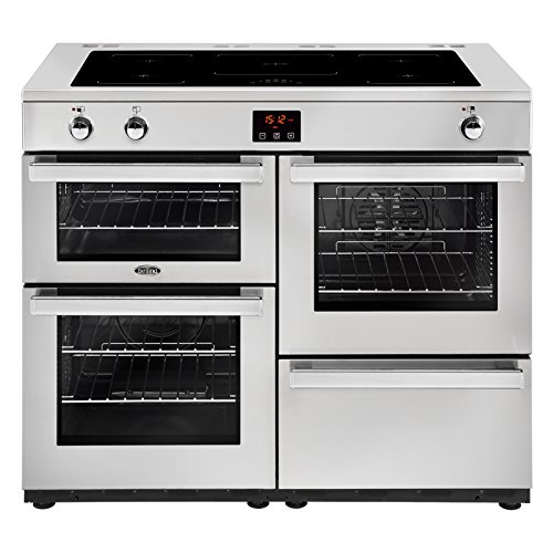 Belling Cookcentre110Ei Prof 110cm Electric Range Cooker with Induction Hob - Stainless Steel